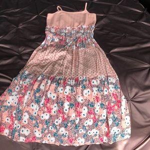 Xhilaration pink floral maxi dress XL 14/16